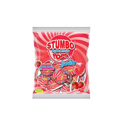 Stumbo Bubblegum Pops Junior Strawberry Flavour